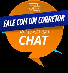 balão de conversa escrito Fale com um corretor pelo chat